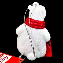 "Kurt S. Adler Coca-Cola Glitter Polar Bear w Coke Case 3.5"" Christmas Ornament image 3"