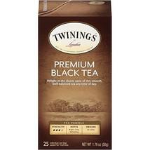 Twinings of London Premium Black Tea Bags, 25 Count Pack of 6 - $30.25