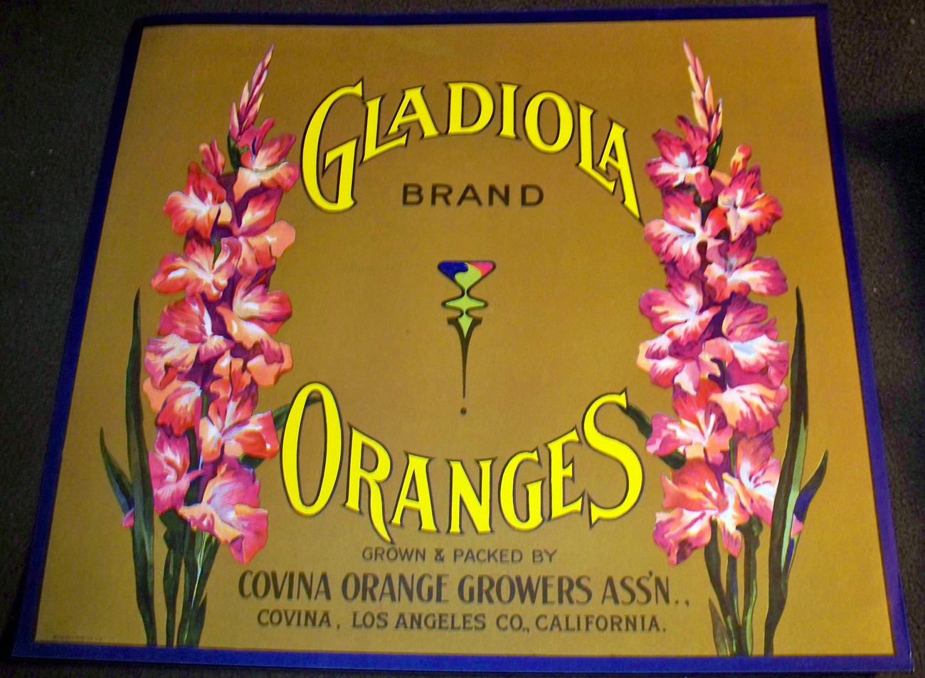 Gladiola crate label 001