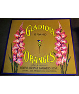 Vintage Flowers! Gladiola Crate Label, 1920's  - $4.89