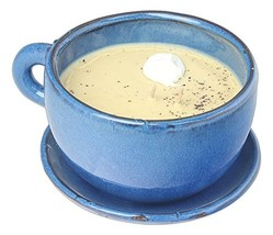 Swan Creek Coffee Mug Scented Candle Large 11 oz Blue Cup - Hazelnut Scent - $83.06