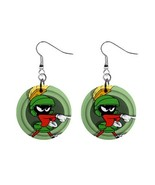 MARVIN THE MARTIAN Button Dangle Earrings - $7.00