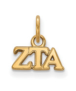 Ss/Gold Plated Sterling Silver With Gp Logoart Zeta Tau Alpha Xs Pendant... - $27.21