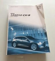 2016 Mazda CX-9 Owners Manual Book Car Manual - $40.00