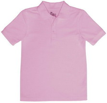 Classroom Uniforms Short Sleeve Two Button Placket Polo Shirt 58990 Pink 3T - $9.89