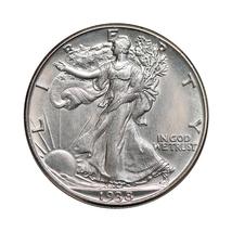 Superb - 1938 D Walking Liberty Half Dollar - Gem BU / MS / UNC - High G... - $600.00