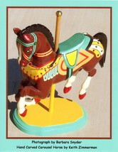 Brown Carousel Horse by Barbara Snyder Horse Western Open Edition Signed... - $19.79