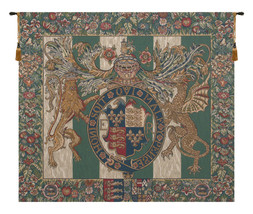 Royal Arms of England Belgian Wall Tapestry - £146.88 GBP