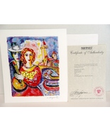 Beauty And Beau ZAMY STEYNOVITZ Limited Edition Lithograph Signed Art Pr... - $24.99