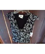 Silver and black dress blouse by JBS LTD - $10.00