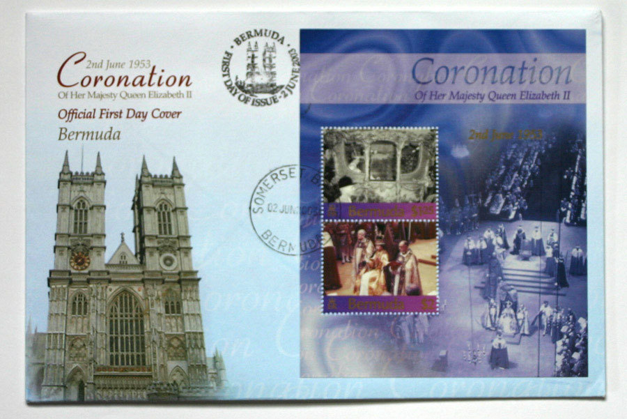 Bermuda First Day Cover & Sheetlet - Coronation QEII