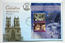 Bermuda First Day Cover & Sheetlet - Coronation QEII - $10.50