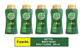 [5 Packs] Dettol Gold Body Wash Daily Cl EAN (250ml) - $47.90