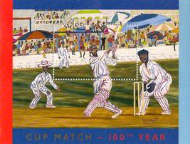 Bermuda 100 Year Cupmatch Sheetlet - $5.50