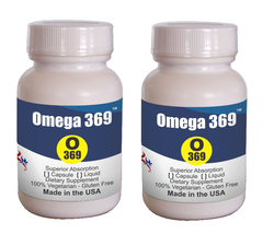 Omega369 Fuel 4 Brain ensuring balanced EPA, DHA and GLA (Softgel 30ctX2... - $19.75