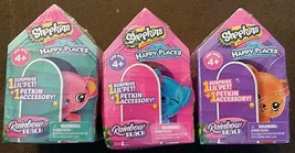 3X Shopkins Happy Places Season 5 Rainbow Beach Blind Boxes Lot of 3 - $10.19