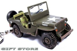 KEY CHAIN USMC JEEP WILLYS GPW 4x4 WW2 KOREA & VIETNAM MARINES ARMY CAMO... - $44.95