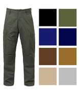 Tactical BDU Cargo Pants, Military Uniform Trousers Army Fatigues Solid ... - $32.99+