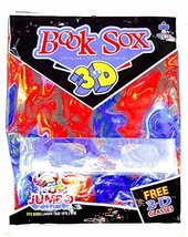 "Book Sox,Stretchable Fabric,10"" x 8"" (3-D Red&Blue Ooze w/3-D Glasses in... - $9.89"