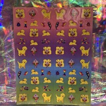 Lisa Frank Complete Mini Sticker Sheet Casey Caymus Ice Cream Sundae S271 image 1