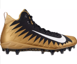 Nike Alpha Menace Pro TD Gold Black 866012-020 Football Cleats Shoe Size 13 - $48.95