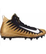Nike Alpha Menace Pro TD Gold Black 866012-020 Football Cleats Shoe Size 13 - $48.95