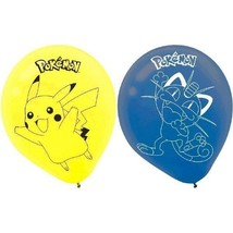 "Pokemon Pikachu and Friends Meowth Birthday Party 6 Ct Balloons 12"" Helium - $3.89"