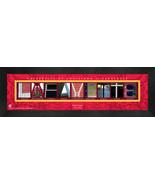 Personalized University of Louisiana at Lafayette Campus Letter Art Fram... - $39.95