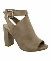 TOP MODA, Taupe Cutout Ankle-Strap Story Sandal, Sz 5.5 - $18.81
