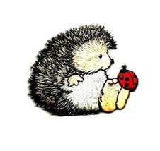 Hedgehog - Hedgie - Ladybug - Embroidered Iron On Applique Patch by I.E.... - $6.90