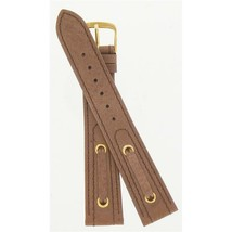 Speidel 18mm Brown Genuine Leather Spinnaker Series Watch Band 1258-18MM - $21.95