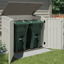 Garden Shed Storage Horizontal Utility Tool Shed 34 cu ft w/ Reinforced ... - $325.04