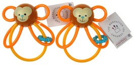 The Manhattan Toy Company Winkel Monkey Rattle Lot of 2 Activity Toy 0+ ... - $11.99
