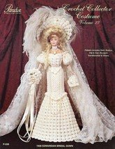 1908 Edwardian Bridal Gown for Barbie Doll Paradise #27 Crochet Pattern Booklet - $4.47