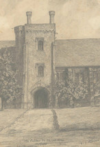 V. J. Palmer - Signed Early 20th Century Graphite Drawing, Old Palace, H... - $44.40
