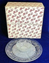Princess House Crystal Fantasia Party Server Relish Chip Dip 910 Floral Vintage  - $44.54