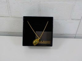 """Vintage QVC Joan Rivers Egg Pendant and 30"""" Chain Necklace in the Box - $39.95"""