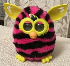 Furby Boom Figure Hot Pink with Black Stripes - Discontinued, A4337, WORKS!!!  - $17.10