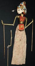 Vtg Indonesian Balinese Doll Wooden Puppet Marionette Hand Carved Cultur... - $43.54
