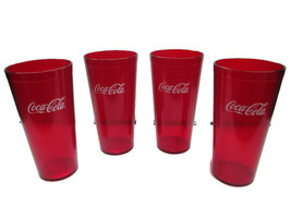 Coca-Cola  Red Plastic Tumblers 24 oz set of 4- BRAND NEW - $13.85