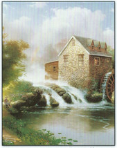 Blessings of Summer WaterMill Thomas Kinkade 100 pc Bagged Jigsaw Puzzle... - $9.85