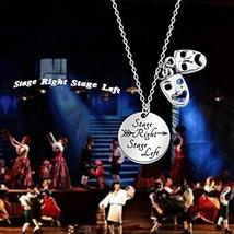 KUIYAI Funny Theater Bracelet with Comedy Tragedy Masks Charm Drama Major Gift N image 3