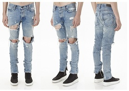 jeans men fear of god brand ripped jeans for men hot high quality zipper fashion image 3