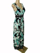 FOREVER Women's Sleeveless V-Neck Graphics Pattern Empire Waist Maxi Dress S - $16.99