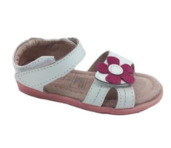 Girls Shoes ProActive Samantha White/Pink Leather Sandals Size 4-12 New - $27.82