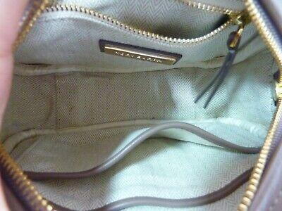 NWT Tory Burch Classic Taupe Kira Chevron Small Camera Bag $358 image 8