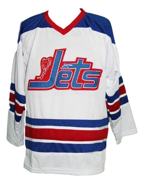 Bobby hull  9 jets wha retro hockey jersey white  1