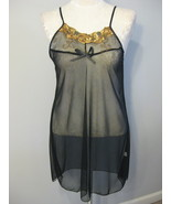 Lingerie Sheer Black Chemise With Thong Size XXL - $11.00