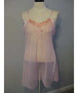 Lingerie Chemise Sheer Pale Pink Size XXL New  - $11.00