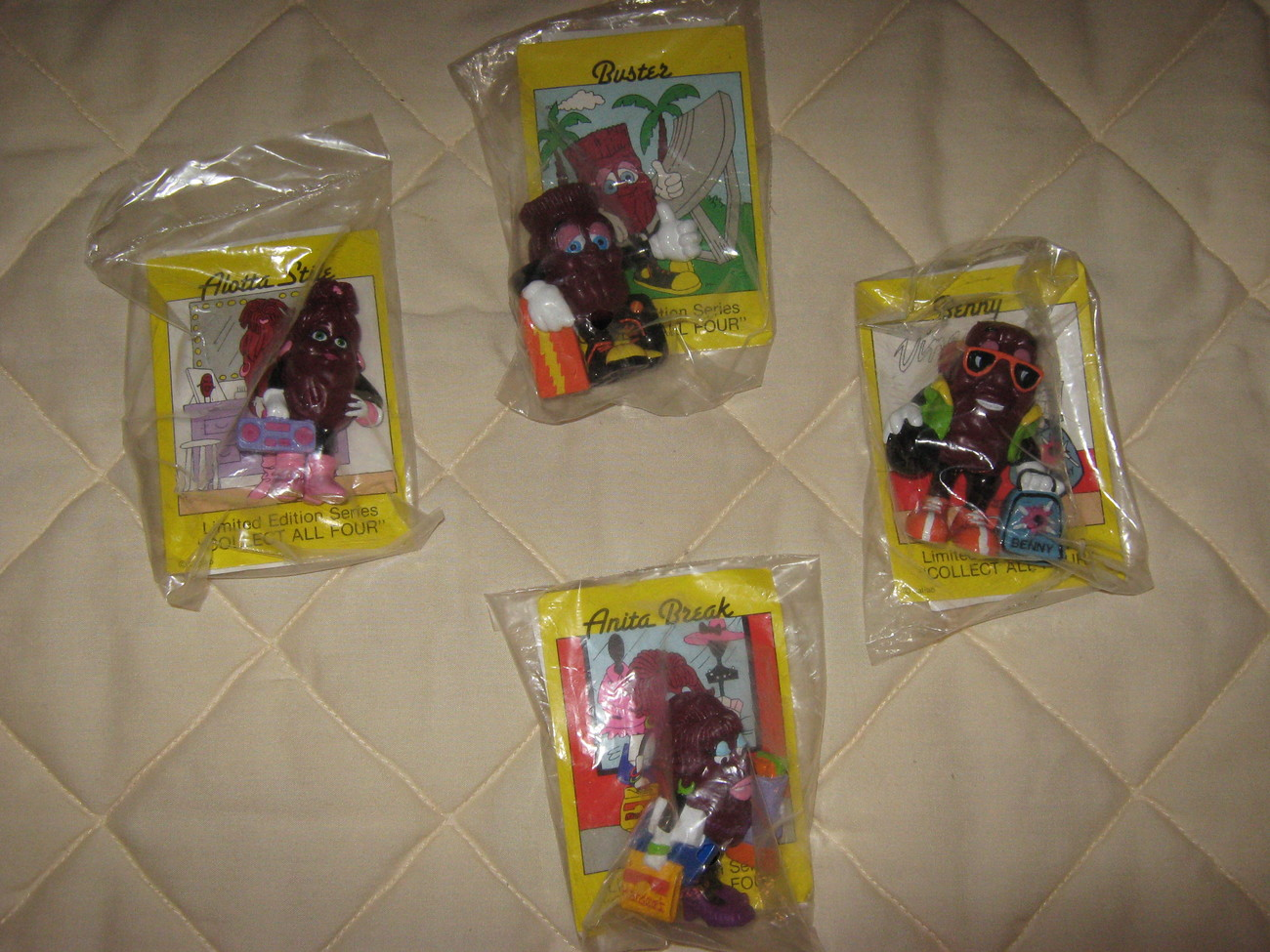 California Raisins set of  4